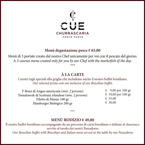 Cue Menu Churrascaria